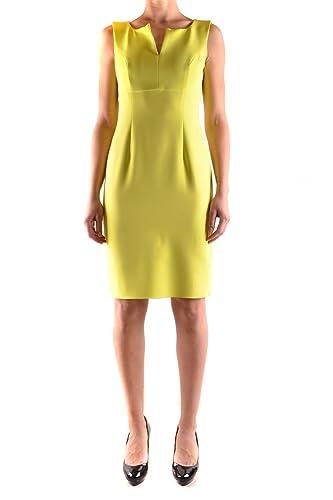 One Vestito Donna MCBI225007O Poliestere Giallo