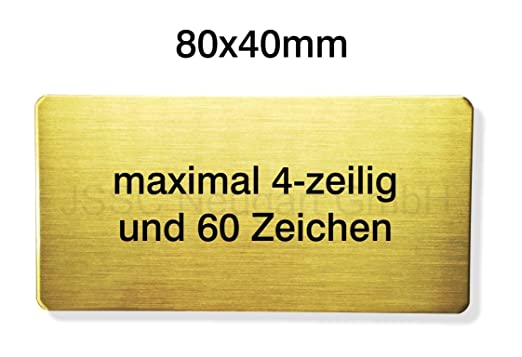JSSC Neugart GmbH graviertes geschliffenes latón Cartel ...