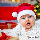 DishanKart for Kids Pack of 2 Christmas Santa Claus Hat / Santa Claus Cap Merry Christmas Hat Cap for Christmas / Xmas Party Celebration