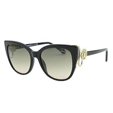 61fbb2c882 Roberto Cavalli 2018 Giannutri RC-1063 01B Women Black   Gold Cat-Eye  Sunglasses