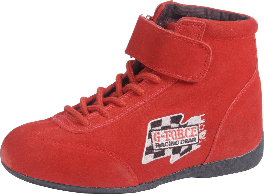 G-Force 0235130RD RaceGrip Red Size-130 Mid-Top Racing Shoes