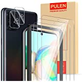 [5-Pack] PULEN for Samsung Galaxy A71 (4G) Screen Protector (3-Pack) with 2 Pack Camera Lens Protector,HD Clear Scratch…