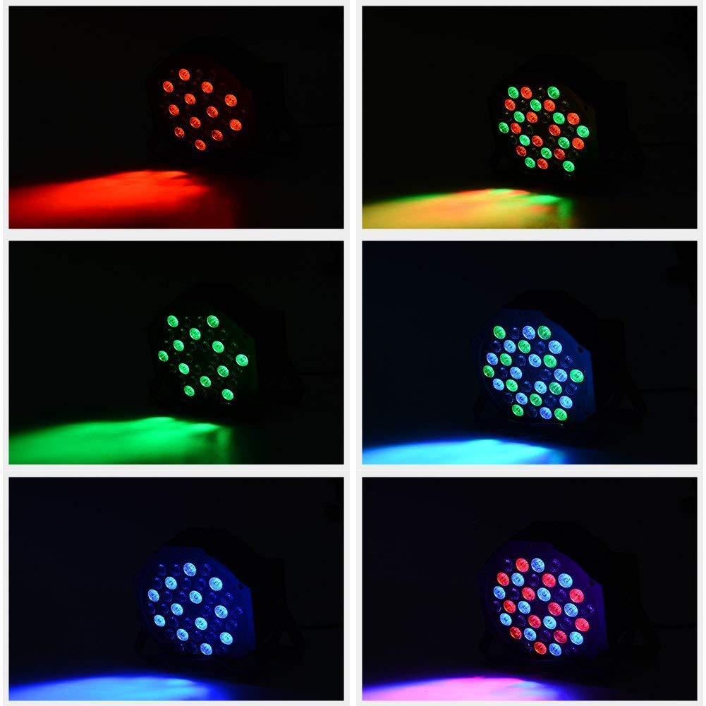 LUNSY DJ Par Lights, 36LEDs Stage Lighting Par Can Controlled by Remoter and DMX Control - 2 Pack by LUNSY (Image #4)
