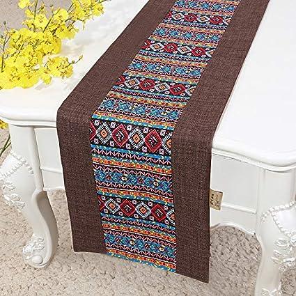 ZCJB Tischläufer Tischdecke für Küchentisch/Party/Hochzeit/Urlaub/Kaffeetisch scharfe Ecke und flachem Winkel Farbe : C1, größe : 33x230cm Tischfahne aus Baumwolle