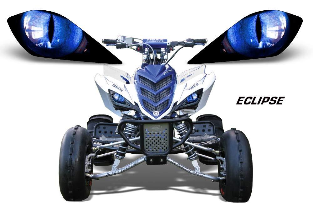 7//8 22mm Rubber Handlebar Hand Grips Krace Motorcycle Clutch Brake Levers Set Fit For Yamaha YFM 700R Raptor 700 2008 2009 2010 2011 2012 2013 2014 2015 2016 2017 2018 Adjustable w
