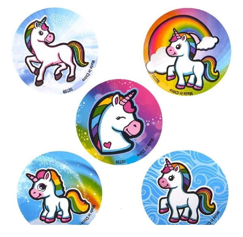 Novelty Treasures Mystical Unicorn Party Set 100 Sticker Roll and 144 Tattoos 4