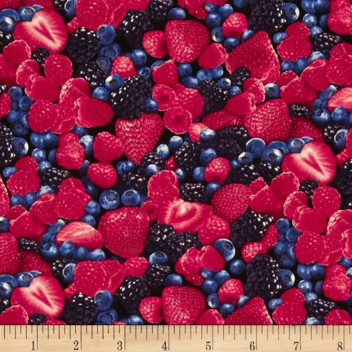 (Timeless Treasures 0316411 Mixed Berry Fabric by The Yard)