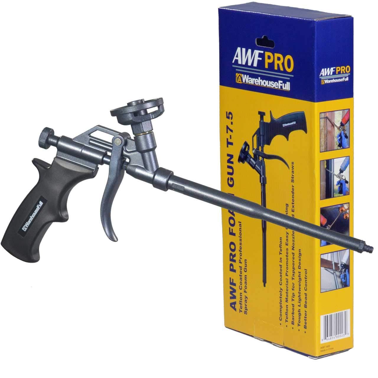 AWarehouseFull Spray Foam Gun, Teflon Coated Professional