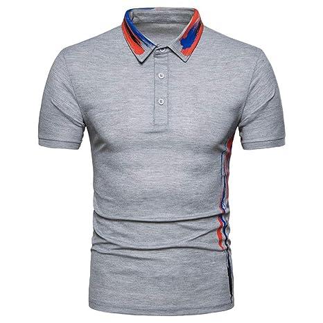 NISHISHOUZI Nueva Camiseta Hombre Polo Imprimir Verano Manga Corta ...