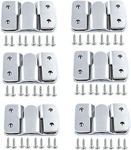 Hoowen Metal Sectional Sofa Interlocking Furniture Connector Bracket Mural Paintings Hooks with Screws, Pack of 12