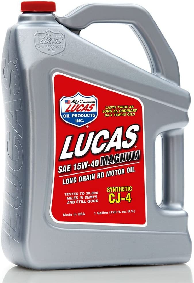 Lucas Oil 10299 SAE 15W-40 CJ-4 Synthetic Motor Oil