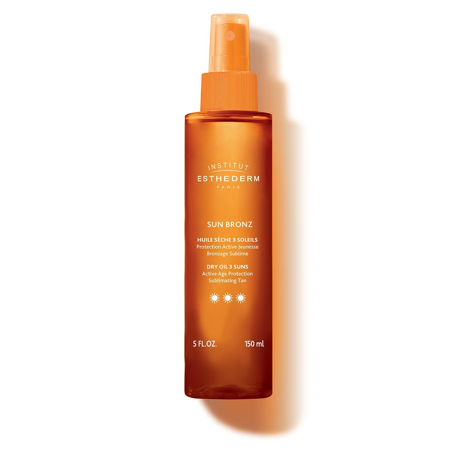 Institut Esthederm Sun Bronz 3 Suns, dry body oil with suncare protection for a faster and intense tan, normal skin - 4.23oz by Institut Esthederm (Image #1)