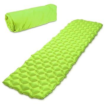 Navaris colchón Inflable con Estructura alveolada - Esterilla Hinchable para Camping en DIV. Colores - Colchoneta de Aire portátil para Dormir: Amazon.es: ...