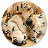 10.5'' TWO GOLDEN RETRIEVERS CLOCK - Large 10.5'' Wall Clock - Home Décor Clock