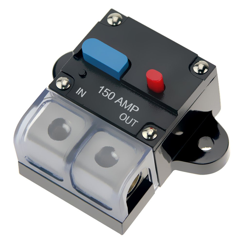 KUMEED 100A Circuit Breaker Fuse 12-24V DC for Car Audio Marine System Overload Protection