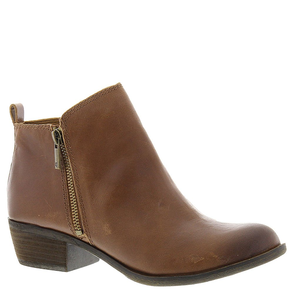 Toffee Leather Lucky Brand Women's Basel Ankle Boot
