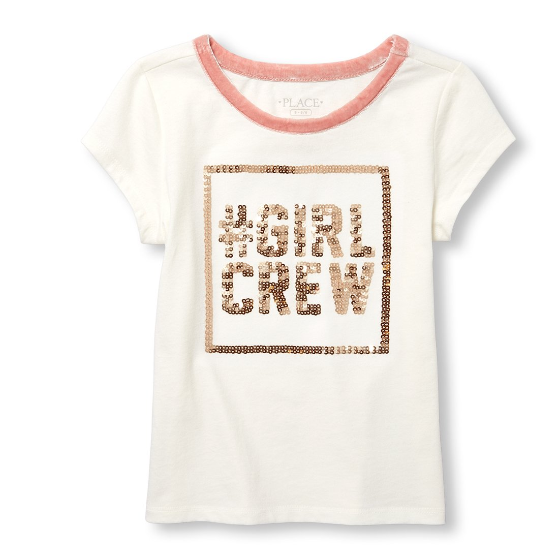 The Children's Place Big Girls' Short Sleeve Graphiic Tee, Snow, L (10/12)
