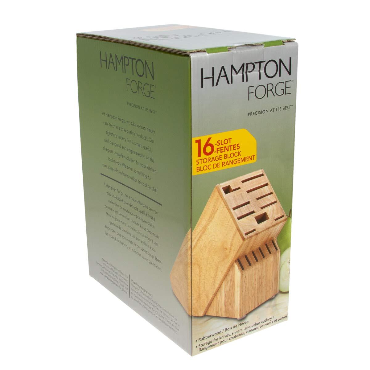 Hampton Forge 16-Slot Empty Cutlery Block, Wood, HMC01B016G by Hampton Forge Cutlery (Image #4)