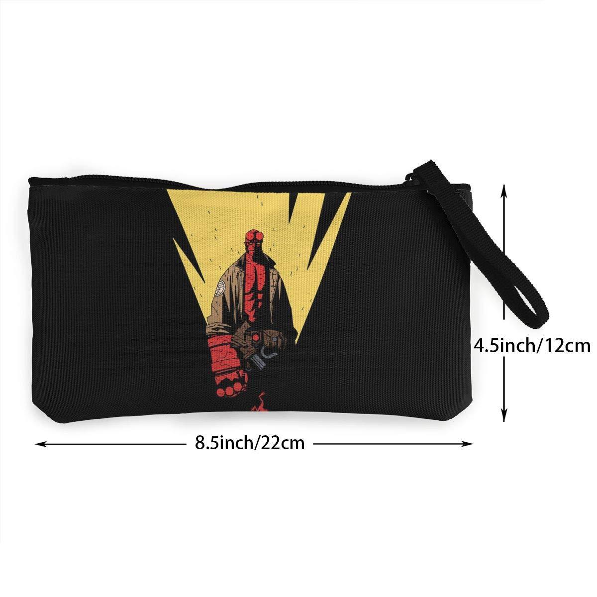 He-llboy Canvas Coin Purse Pouch Zipper Wristlet Wallet,Cellphone,Make Up Bag,Handle Key Holder