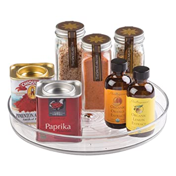 High Quality InterDesign Linus Lazy Susan Turntable Spice Organizer Rack For Kitchen  Pantry, Cabinet, Countertops