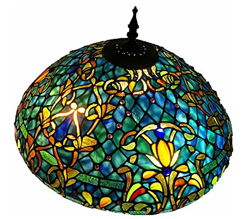 Tiffany Style Stained Glass Floor Lamp ''Azure Sea''