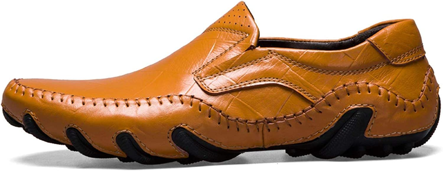 Handmade Genuine Leather Mens Shoes Casual Luxury Brand Men Loafers Italian Breathable Driving Shoes