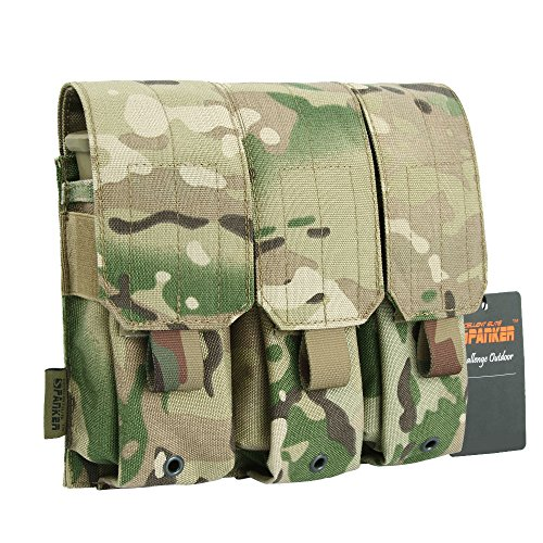 EXCELLENT ELITE SPANKER Single/Double/Triple M4 Mag PouchTactics Nylon Molle Mag Pouch Mulit-Tool - Double Mag 511 Pouch