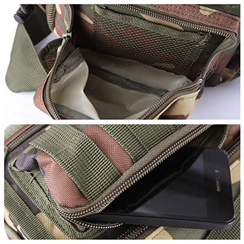 lokep multifuncional y resistente hombres y mujeres de Tactical Messenger Bag Bolsa de la cámara bolsa de hombro bolsa cross-body bolsa Militar al Aire Libre Riñonera para caza de senderismo viajar es Color4