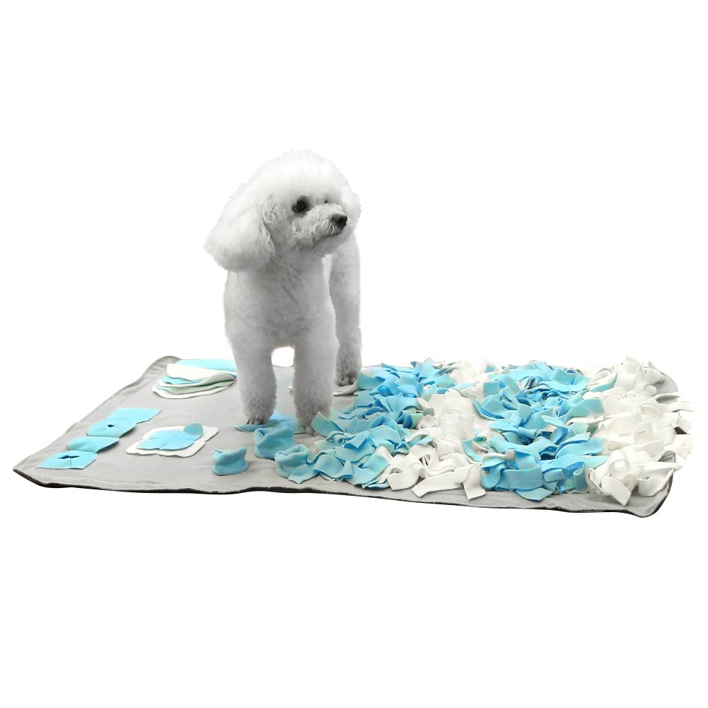 Pidsen Dog Snuffle Mat Play Toy Nose Work for Dog Training Feeding Mat Stress Release (Medium, Gray)