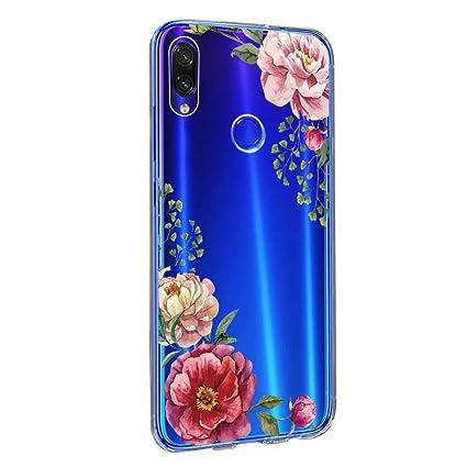 Amazon.com: Funda para Xiaomi Redmi Note 7, diseño floral ...