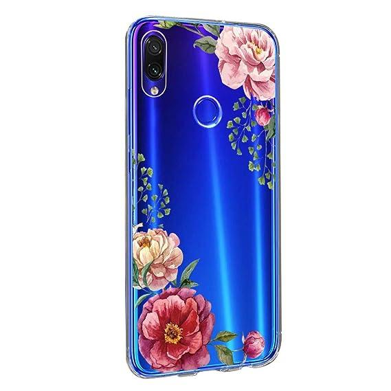 Amazon.com: Case for Xiaomi Redmi Note 7, Floral Flower ...