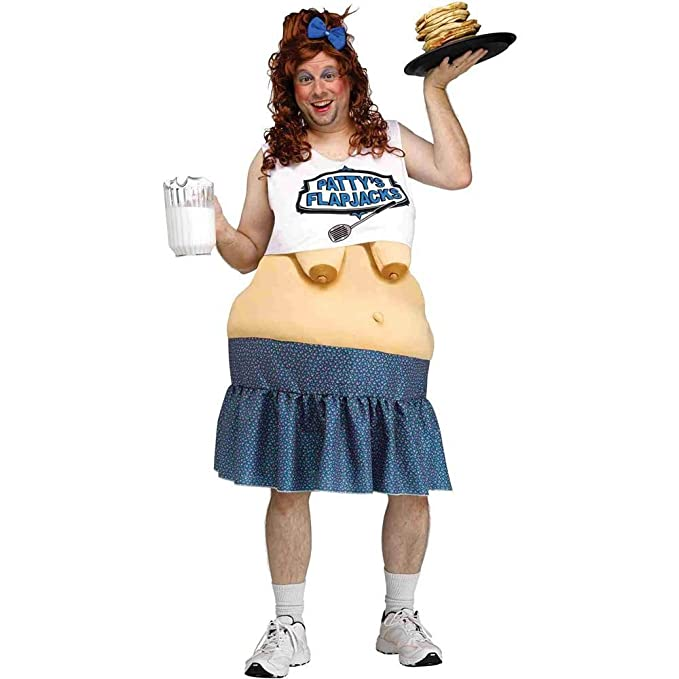 Pattyu0027s Flapjacks Diner Waitress Funny Adult Halloween Costume Big Fat Suit New  sc 1 st  Amazon.ca & Pattyu0027s Flapjacks Diner Waitress Funny Adult Halloween Costume Big ...