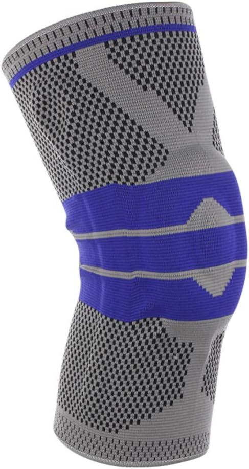 Xingkee Transpirable Rodillera Deportiva Rodillera de Soporte de Punto con Tiras de Gel para Correr, Deportes, Baloncesto, Artritis, Alivio