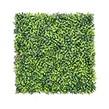 Artificial Boxwood Hedges Panels Decorative Garden Grass Fencing Screen Greenery Panels For Garden Decoration. 20''x20'' (12)