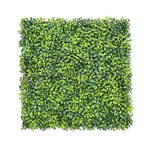 Artificial Boxwood Hedges Panels Decorative Garden Grass Fencing Screen Greenery Panels For Garden Decoration. 20''x20'' (12) by Hecaty
