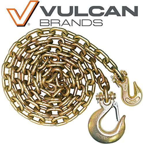 Vulcan Classic Grade 70 Standard Duty Safety Chain With Grab And Sling Hooks - 6,600 lbs. Safe Working Load (3/8'' x 8') by Vulcan Brands (Image #6)