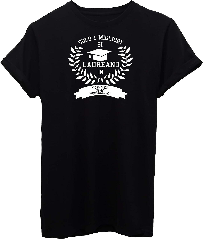 iMage T-Shirt Laurea Scienze della Formazione universit/à Regalo Laureato Eventi Donna-M-Nera