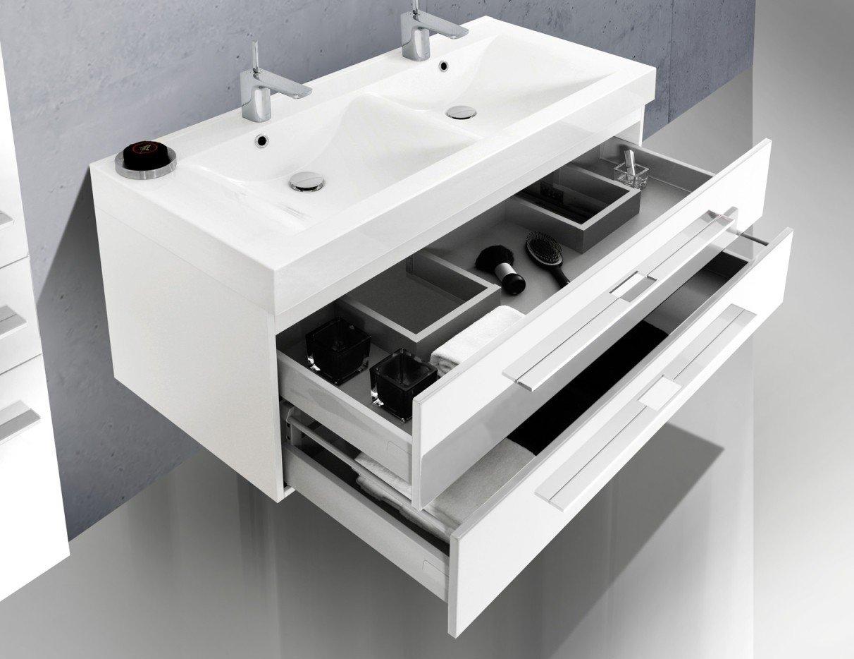 Design Badezimmermöbel Set mit Doppelwaschtisch 120 cm: Amazon.de ...