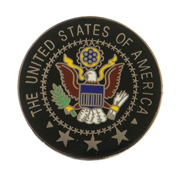 Cloisonne Enamel Military Pins - USA Seal OSFM: Amazon ca: Clothing