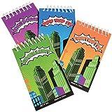 Lot Of 12 Assorted Comic Book Super Hero Mini Notebook Spiral Bound Memo Pads