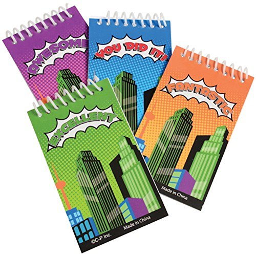 - Lot Of 12 Assorted Comic Book Super Hero Mini Notebook Spiral Bound Memo Pads