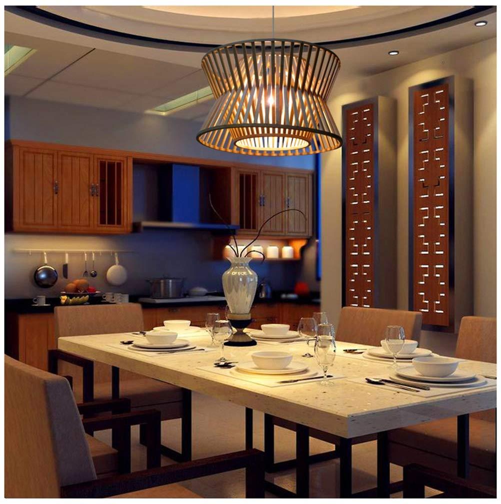 Light-S 現代のミニマリストのペンダントライト新しいレストラン天井照明ティーハウスウッドアートシャンデリアリビングルームバーカフェ装飾ランプ   B07TMD7LN5