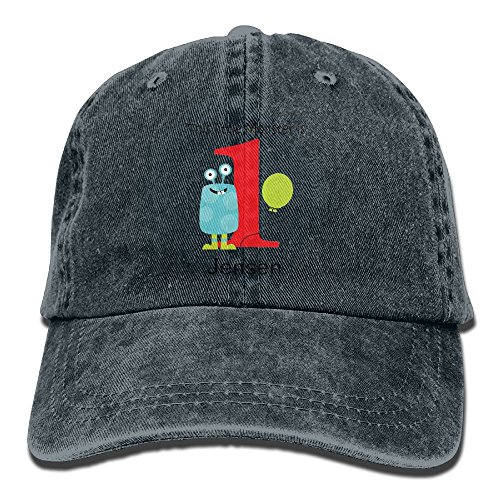 SKXJ0IOAI 1st Birthday Little Monster Blue Hat Snap-Back Hip-Hop Cap Baseball Hat Head-Wear Cotton Trucker Hats Navy
