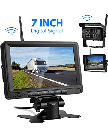 "Digital Cámara Trasera Inalámbrica-Directtyteam 7"" TFT LCD Monitor 18 IR LED Digital Cámaras"