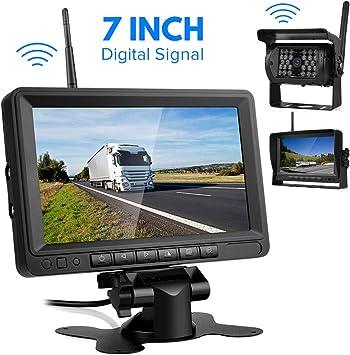 """Digital Cámara Trasera Inalámbrica-Directtyteam 7"""" TFT LCD Monitor 18 IR LED Digital Cámaras de Marcha atrás Visión Nocturna par Coche/Camión/Autobús/Caravana/RV (7inch): Amazon.es: Electrónica"""