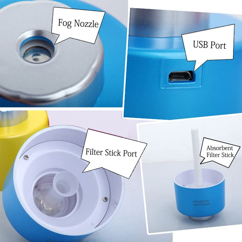 NEW Products Air Cleaning Mini USB Portable Home Humidifier Water Bottle Cap Fan Essential Oil Diffuser Purifier Ventilador