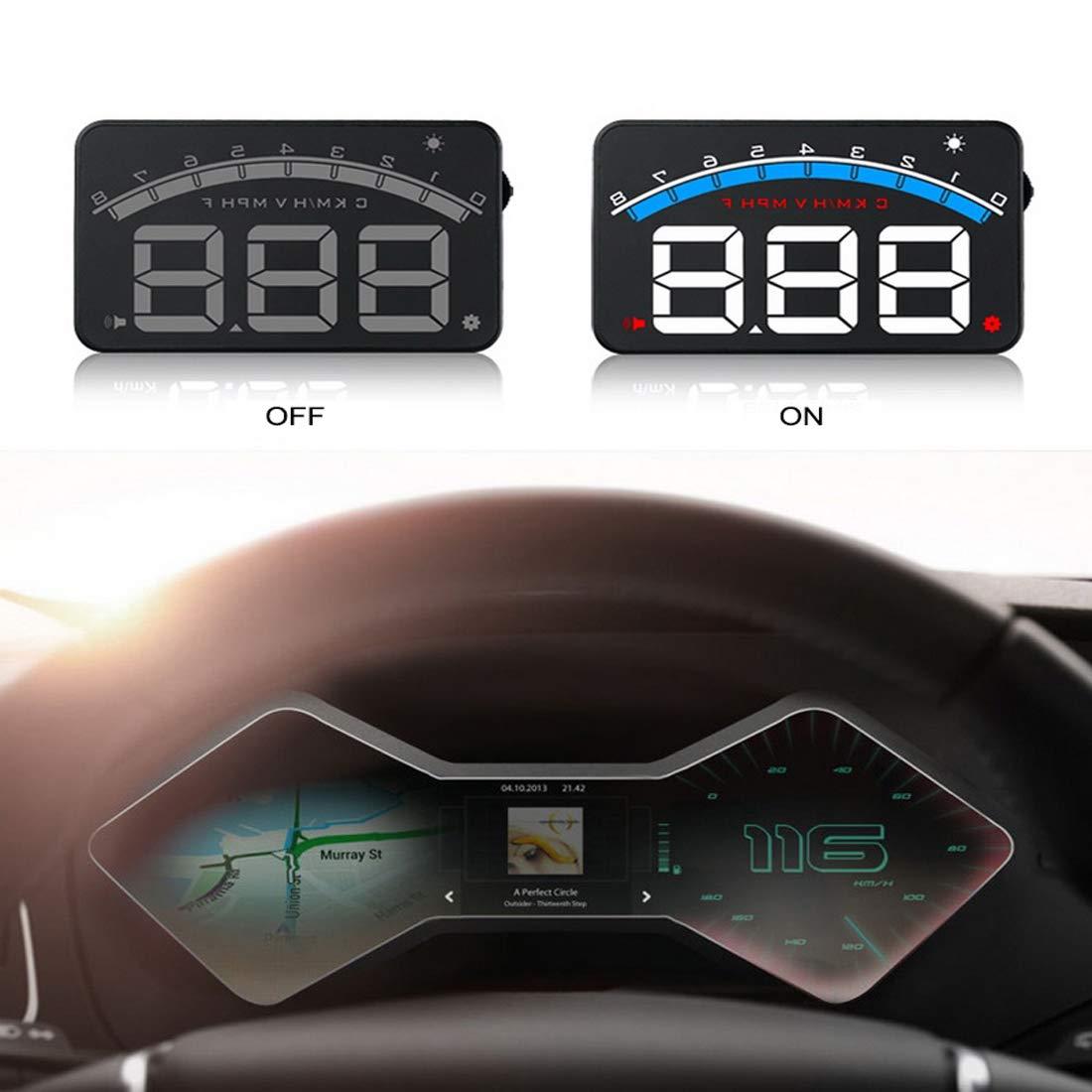 5-Zoll-Windschutzscheibenprojektor OBD2 EUOBD Autofahrdatenanzeige Geschwindigkeit RPM Wassertemperatur HUD-Anzeige HONGKANG DONGMAO CO LTD Auto-Elektronik DONGMAO M6 Head Up 3