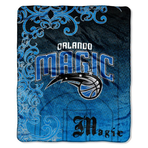 Nba Blanket Raschel Micro - NBA Orlando Magic Micro Raschel Throw Blanket, Street Edge Design