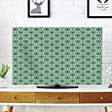 iPrint LCD TV dust Cover Strong Durability,Moroccan,North African Inspired Arabic Oriental Star Pattern