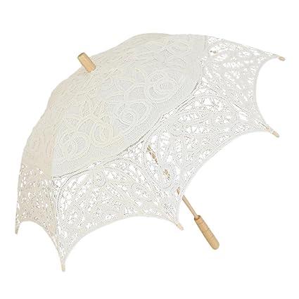 Hetesupply - Paraguas de encaje para boda, sombrilla de sol, sombrilla para fotos,